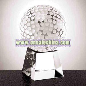 Golf ball optic crystal award