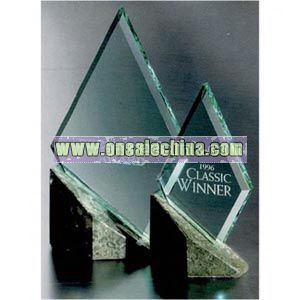 Jade crystal diamond award