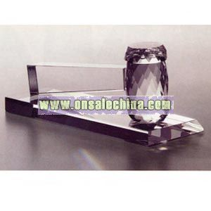 Fine optical crystal gavel