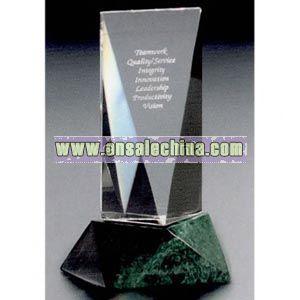 Faceted fine lead crystal award