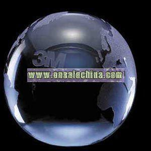 Optical crystal colored globe