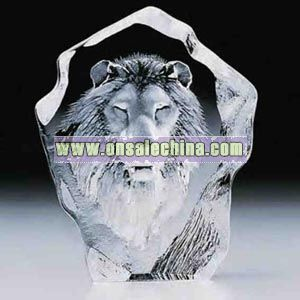 Lion - Full lead crystal award