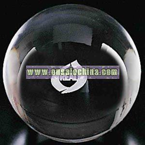 optical crystal gazing ball