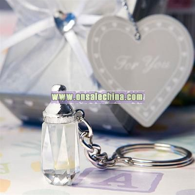 Choice Crystal Baby Bottle Key Chain Favors