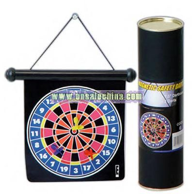 Mini magnetic hanging safety dart board
