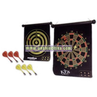 Two sided magnetic dart board