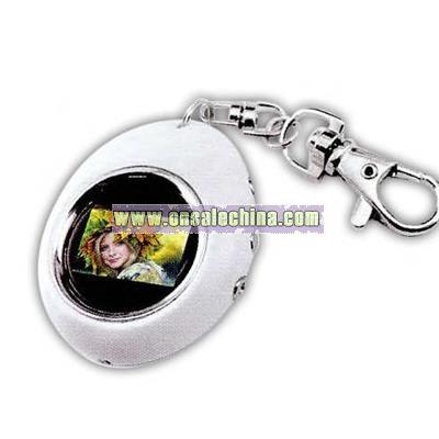 Digital photo display key tag