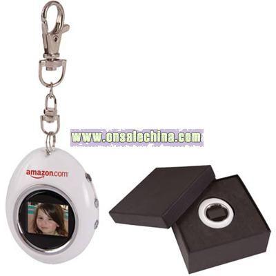 1.1 Oval Digital Photo Keychain