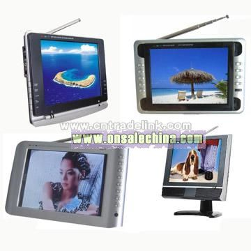 8inch TFT-LCD Color TV with USB, Card Reader