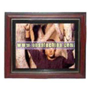 Wooden digital photo frame