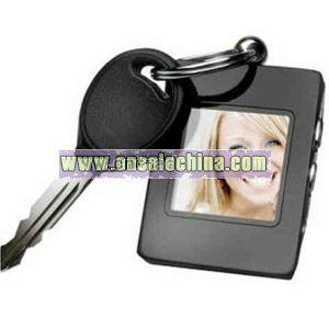 Blank digital photo frame keychain