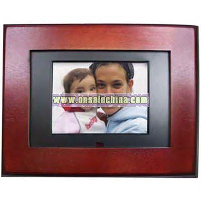 Mahogany wood digital photo frame