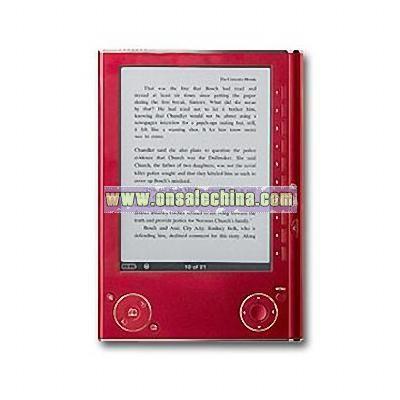 Red E-book Reader