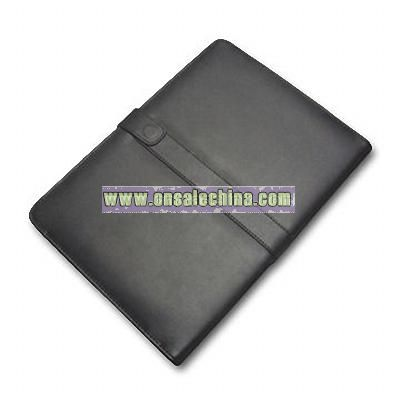 Black Leather Case Cover Jacket for Amazon Kindle DX Side-open
