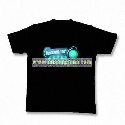 Electroluminescent T-shirt