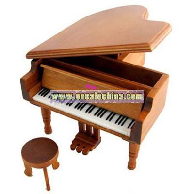 Wooden Piano-Music Box