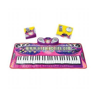 61 Keys Electronic Keyboard Playmat W / Amplifier & Mic