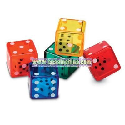 Poker dice is played by simultaneously rolling