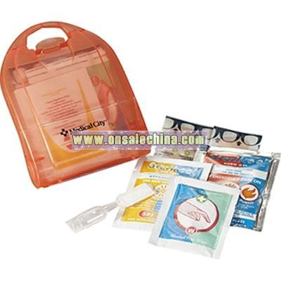 StaySafe 10-Piece Outdoor First Aid Kit - Red