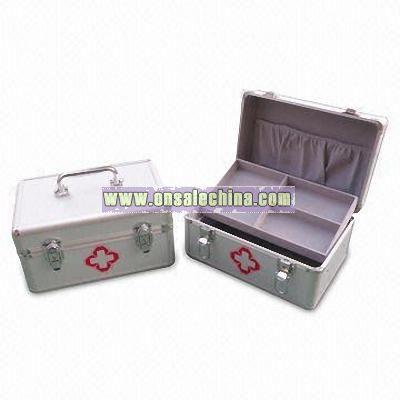 White PU First Aid Box