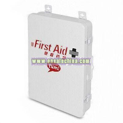White Metal First Aid Box