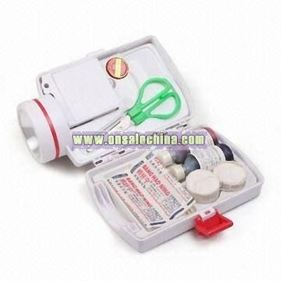 First-aid Kit Box with Flashlight