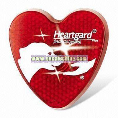 Heart Shaped Flashing Safety Light