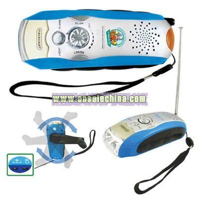 Multifunctional charger LED flashlight alarm and Radio