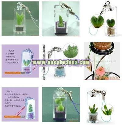 Mobile Phone Chain-mini plants