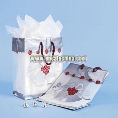 Romantic Rose Frosted Gift Bags