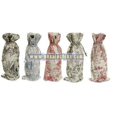 Cotton Wine Bottle Bag Cover, 5 Piece