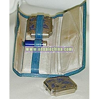 30' Blue Rose Vanity Case