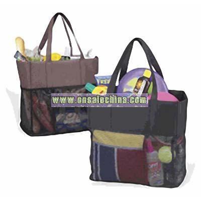 Beach Travel Shopper Bag in Black