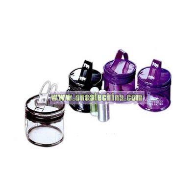 Circular Cosmetic Bag