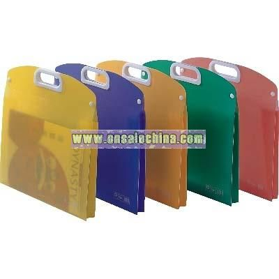 PP shopping bag with fastener