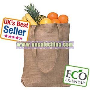 CLIPPER NATURAL JUTE TOTE BAGS
