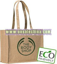 EARTH NATURAL JUTE TOTE BAGS