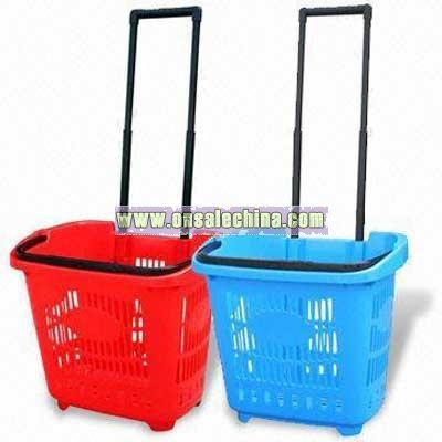Pull Handle Shopping Basket/Cart