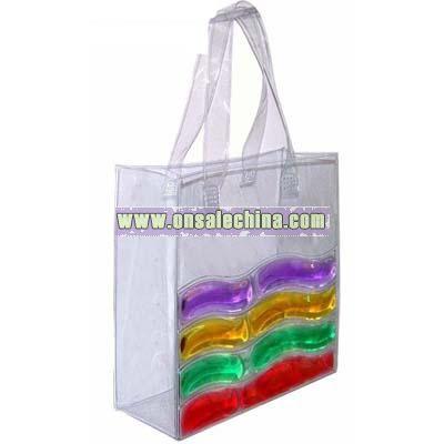 liquid filled PVC hand bag