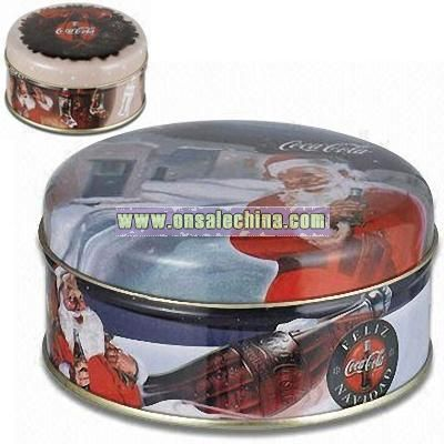 Christmas Round Candy Tin