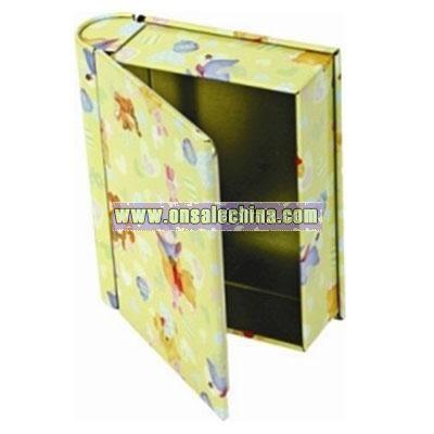 Book Shape Tin Box