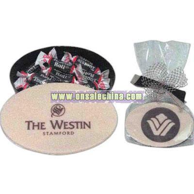 Oval Shape 2 Ounce Chocolate Box