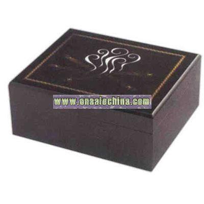 Inlay cigar box hygrometer