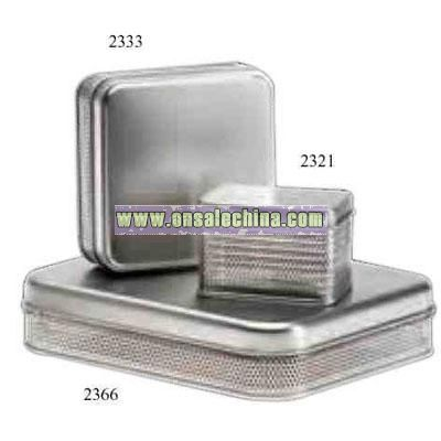 Tin with Mesh Sides