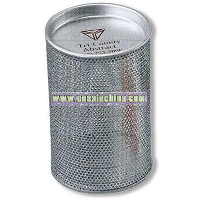 Round Metal Mesh Candy Tin