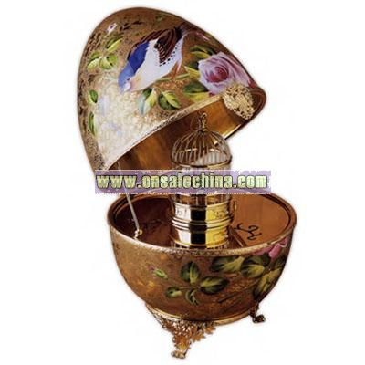 Porcelain Bird Cage Decorative Egg