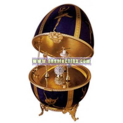 Porcelain Musical Decorative Egg