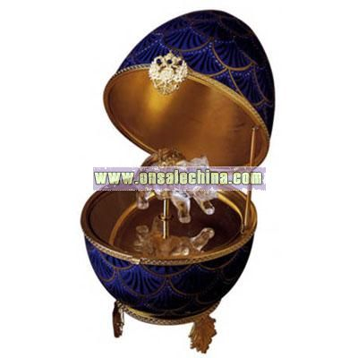 Porcelain Pine Cone Decorative Musical Egg