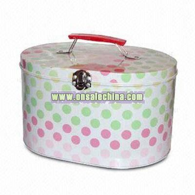 Oval Tin Lunch Box