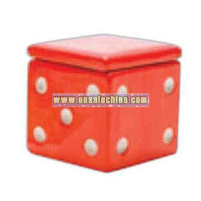 Red dice cookie jar